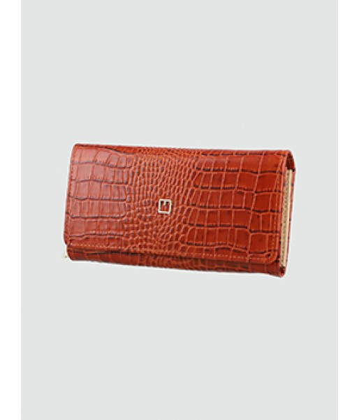 Croc Embossed Continental Wallet