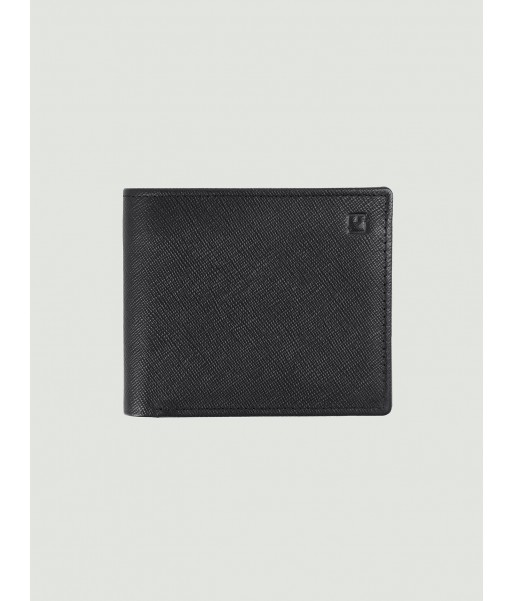 Texture leather Wallet with ID Window