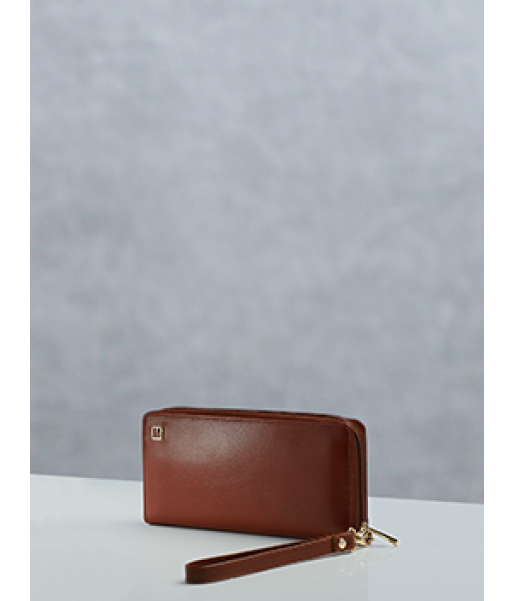 Hazel Continental Wallet With Strap