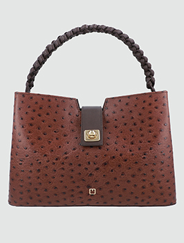 Ostrich Top Handle Bag